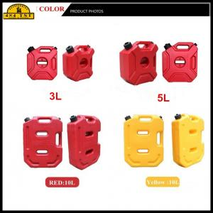 China 3 Litre Red Plastic Portable Off Road Fuel Can / Atv Gas Container on sale