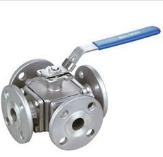 China 4 Way Flanged Ball Valve CL150 Pressure 1/2 - 3 Size High Performance on sale