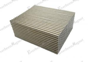 China Small Disc Circular Neodymium Magnet Nickel Dia1/8 inch For Fasteners / Button on sale