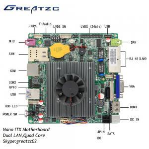 China Dual LAN Nano ITX Motherboard Quad Core Celeron J1900 Processor With LVDS on sale