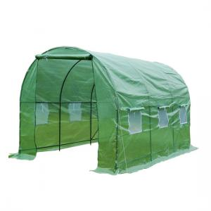 China Durable Walk In Tunnel Greenhouse , Poly Tunnel Greenhouse UV Ceiling Surface on sale