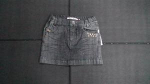 China Short Girls Jean Skirt,  Boutique Childrens Clothing With Metal Rivets on sale