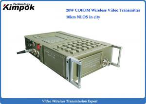 China Rugged 1080P HD Wireless Transmitter NLOS COFDM Video + Data Transmitter 20W RF Output on sale