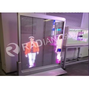 China Shenzhen Radiant see through full color 3.9mm led transparent display poster price on sale