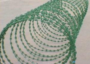 China CBT Concertina Razor Barbed Wire Green Hot Dipped Galvanized Razor Wire on sale