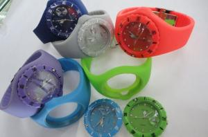 China Silicone Quartz Watch With Seven Colors Light (JS-2038) on sale