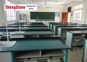 China Thickness 12.7mm Phenolic Resin Worktop , School Lab Worktops Green Color on sale