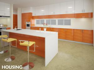 China Custom Kitchen Pantry Storage Cabinet , Wood Veneer Cabinet on sale
