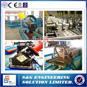 China Double Deep Storage Rack Roll Forming Machine Q 235 Steel Raw Material on sale