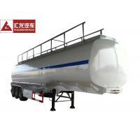 45CBM Tank Capacity Fuel Tank Trailer 3 Axle Square Round Shape Durable