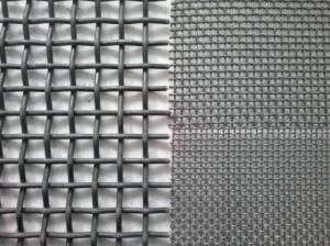 China Fencing SS Woven Crimped Wire Mesh With 5mm-25mm / Customized Hole Size on sale
