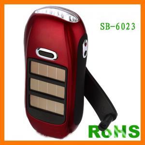 China Anfly Flash Light Solar LED rechargeable solar powered emergency flashlight on sale