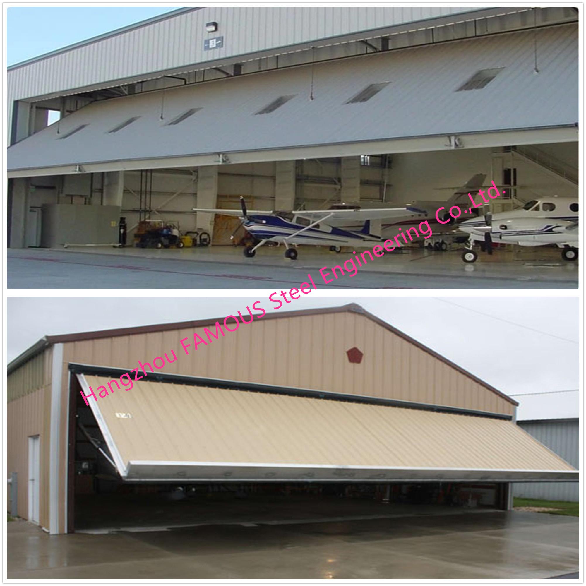 Vertical Bi Fold Hangar Door Solution Light Steel Single Panel
