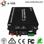 China ST Fiber Interface Cctv To Ethernet Converter 4 Ch 1080P AHD Video 1 Ch 10/100M Ethernet wholesale