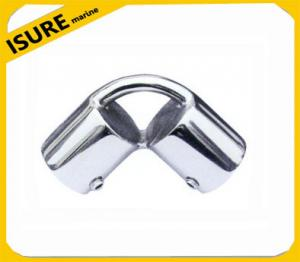 China Boat Hand Rail Fitting-90 Degree 2 Way Corner Elbow -Marine Stainless Steel on sale
