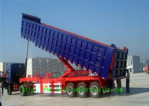 Quality Heavy duty Dump Semi Trailer , Mechanical Suspension / air suspension trailer for sale