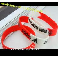 China 100% Non-toxic OEM silicone wristband merry christmas silicone bracelets on sale