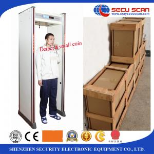 China 12 Zones Gantry Body Metal Detectors Detection Systems With Audio Alert on sale