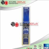 China Blue Recyclable Corrugated Pop Displays With 3 Stages For Advertising / Displaying on sale