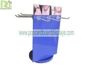 China Corrugated Jewelry Spinner Display Racks Purple on sale
