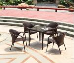 Hot Modern PE Rattan Chair Aluminium Outdoor Garden wicker table and chairs sets