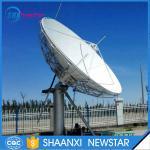 6.2m ku band uplink and downlink motorized satellite communication antenna