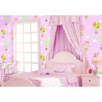 China Chinese Factory Interior Kids Room Wallcovering Pink Blue Color Catoon Design Wallpaper on sale