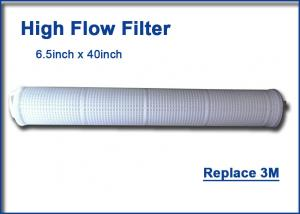 China Whole House Water Filter Cartridges 40 Inch High Flow Filter Cartridge Polypropylene Material on sale