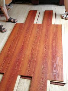 China Double click system HDF AC3 12mm U groove waterproof Laminate floor on sale