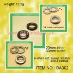 Oeillet-métal ovale plat Groment en métal