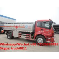 China HOT SALE! good price Foton Auman 4*2 LHD 14m3 bulk oil delivery truck, oil bowser vehicle for sale, fuel tank truck on sale