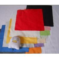 China カスタマイズされた印刷された多彩で純粋な綿/繊維/羊皮のガラス・クリーニングの布 on sale