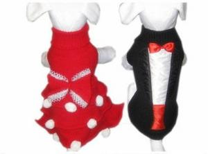 China Pet Bride And Groom Dog Costumes XS - XL for Chihuahuas , Pomeranian on sale
