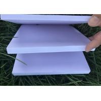 High Strength PVC Celuka Foam Board White Color For Exhibition Desk Signature