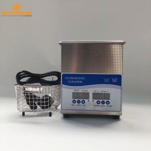 China 100W Electric Desktop Ultrasonic Jewellery Cleaner , 40KHZ Heated Ultrasonic Parts Cleaner 2L on sale