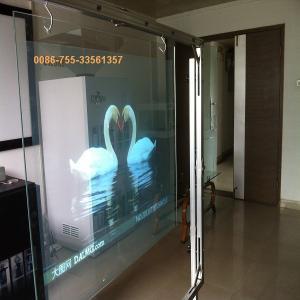 holographic foil transparent rear projection film transparent screen