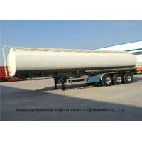 Liquid Flammable Diesel Tank  Semi Trailer 3 Axles For Gasoline  ,Oil ,  Kerosene 49000Liters Transport