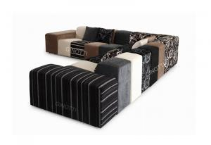 Quality Fashional Grey / Purple / Brown Modern Fabric Sofas, color combination sofa for sale