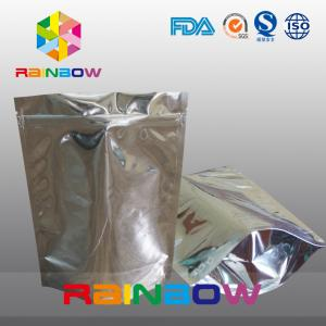 China Standing Aluminum Foil Pouch For Supplement / Foil Doypack With Zipper on sale