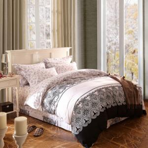 China Home Textile King Size Cotton Bedding Sets Beautiful Design Washable on sale