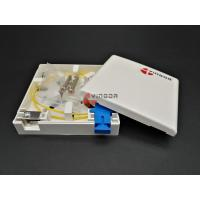 1 Port PP Ftth Fiber Optic Termination Box SC UPC Socket Panel With Metal Cable Clamp