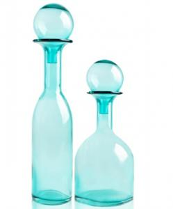 China Modern Blue Bar Art Glass Vases With Fashion And Innovative Design on sale