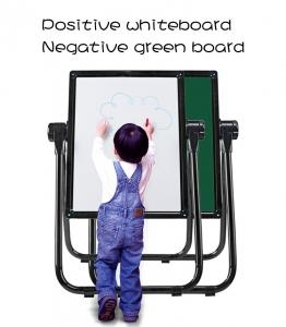 China U Shape Double Sided Whiteboard / Children'S Easel Magnetic Chalkboard on sale