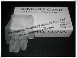China EN455 Latex Free Synthetic Vinyl Gloves ,  PVC Medical Surgical Gloves  Fits Either Hands on sale