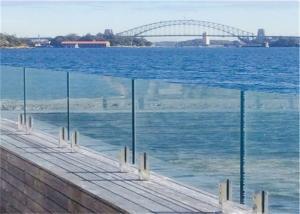 Quality Custom Design Frameless Glass Railing , Swimming Pool Glass Fence Diy Installation for sale