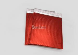 China Matte Red Bubble Wrap Mailing Envelopes CD Size Printed With 2 Sealing Sides on sale