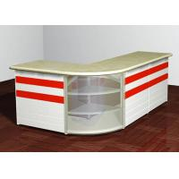 L - Shaped Front Desk Retail Checkout Counter Middle Size For Shopping Mall