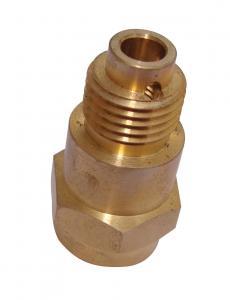 China Precision brass shell fire nozzle copper nozzle  pipe plumbing connector on sale