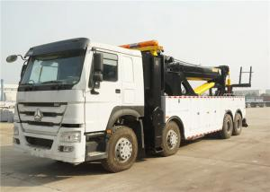 China 50T Road Wrecker Tow Truck 12 Wheels 8x4 371hp 50 tons Left / Right Hand Drive on sale