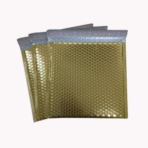 China Strong Adhesive Waterproof Foil Custom Bubble Mailers Matt Metallic Padded Bag on sale